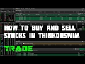 How to buy and sell stocks in thinkorswim Canada