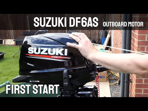 Suzuki df6as 6hp outboard motor first start youtube for Suzuki outboard motor repair shops