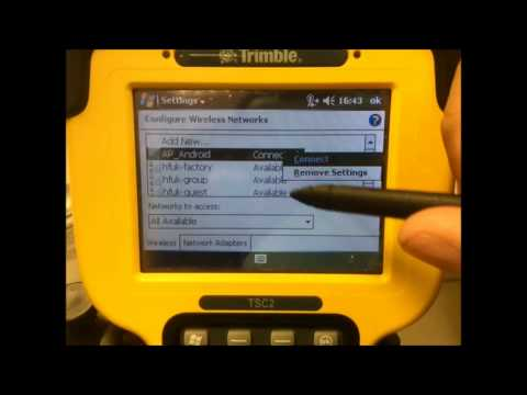 How to tether a Wifi Connection to a Trimble TSC2 from a Android Smartphone