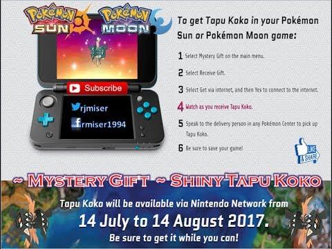 Pokémon Sun & Moon Mystery Gift 14 July - 14 Aug 2017 ~ Shiny Tapu ...