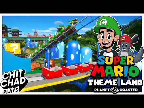 Super Mario Theme Park   People Mover - Planet Coaster  