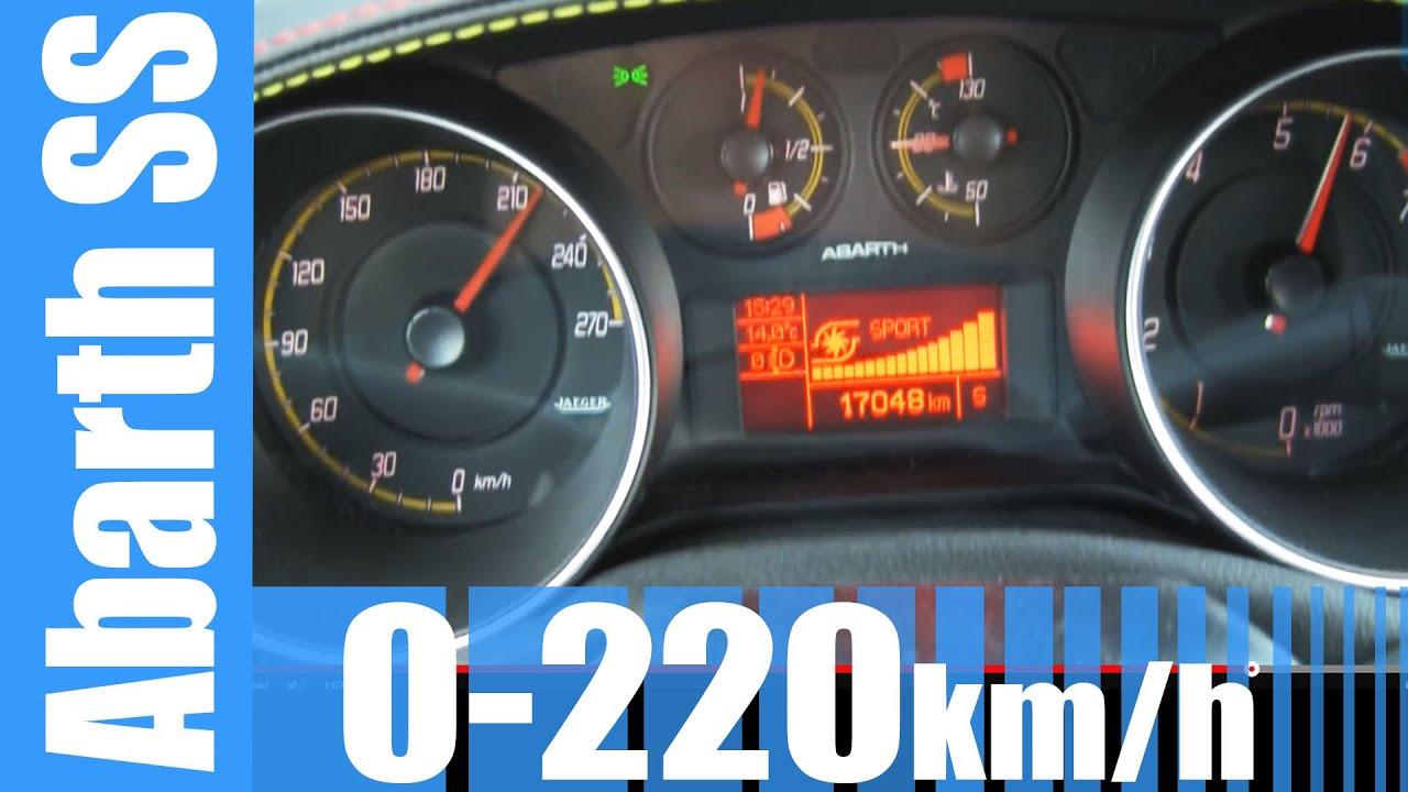 Abarth Punto Evo Ss Supersport   Km H Fast Acceleration Test Autobahn