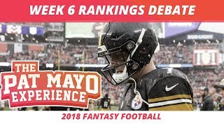 2018 Fantasy Football — Week 6 Rankings, Starts, Sits, Sleepers and Busts