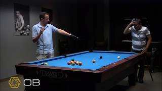 Efren Reyes showing Shane van Boening how to play Russian Pool for the first time.
