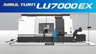 3d machine view/2-saddle cnc lathe simul turn lu7000 ex【okuma corporation japan】
