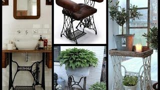 Recycled Old Sewing Machines Ideas - Vintage Sewing Machine DIY Furniture Ideas