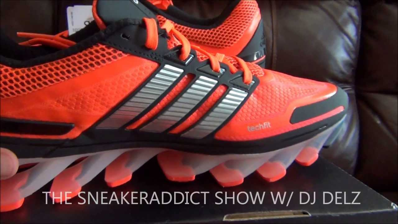 7ad7ac416788 adidas SpringBlade Shoe Review Plus On Feet With  DjDelz - YouTube