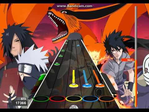 Naruto Shippuden Abertura 1 100%! Expert! (Heros Come Back)