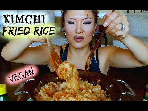 KIMCHI FRIED RICE RECIPE • Vegan Mukbang #김치볶음밥