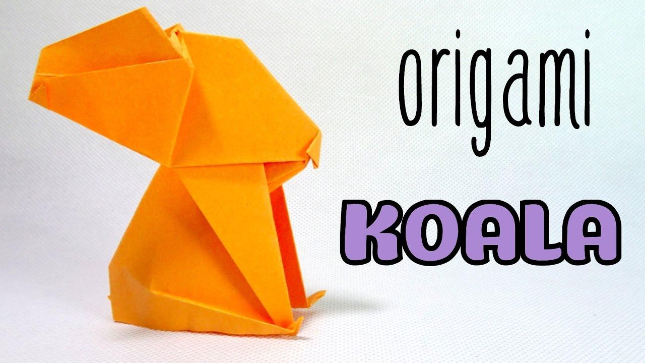 How To Make A Origami Koala Paper Easy Youtube Bear Diagram