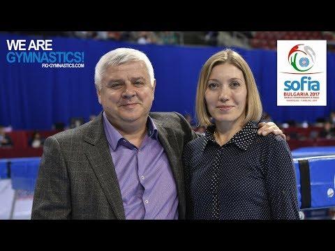 Meeting with the Ambassadors - A.Moskalenko & I.Karavaeva - 2017 Trampoline Worlds