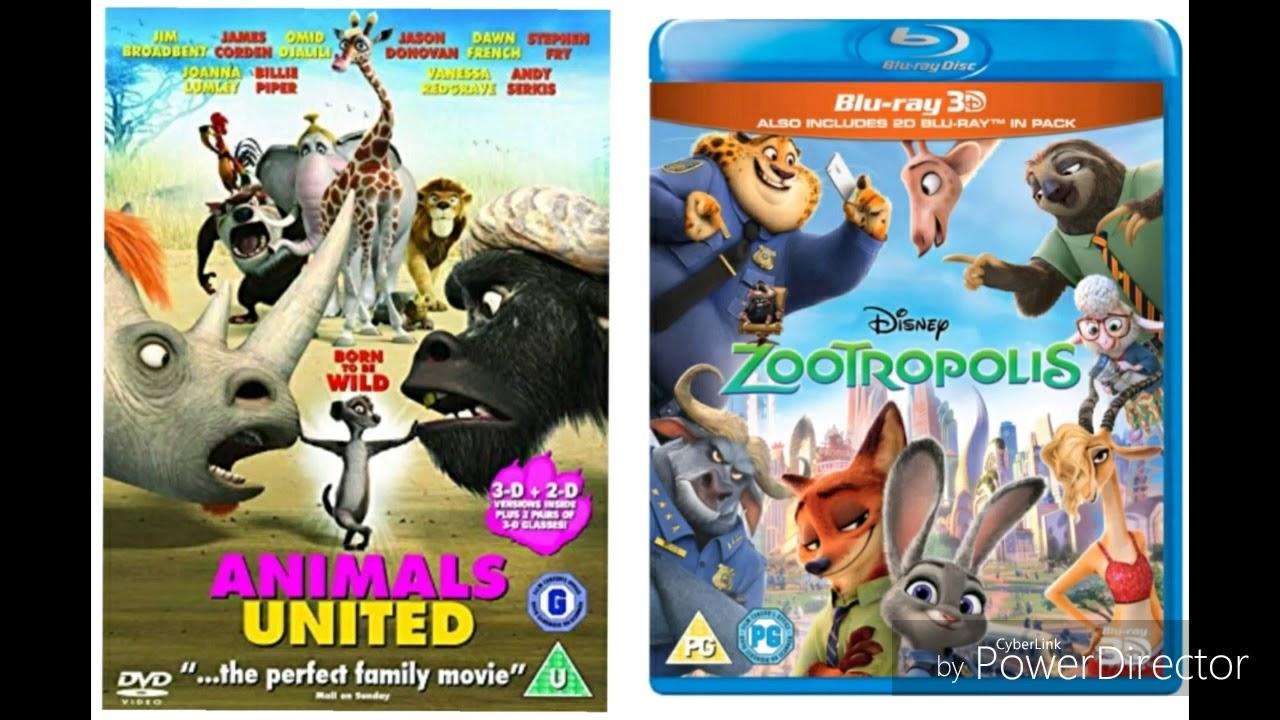 Download ANIMALS UNITED 2010 DVD UK & ZOOTROPOLIS 2016 BIU = RAY UK DVD