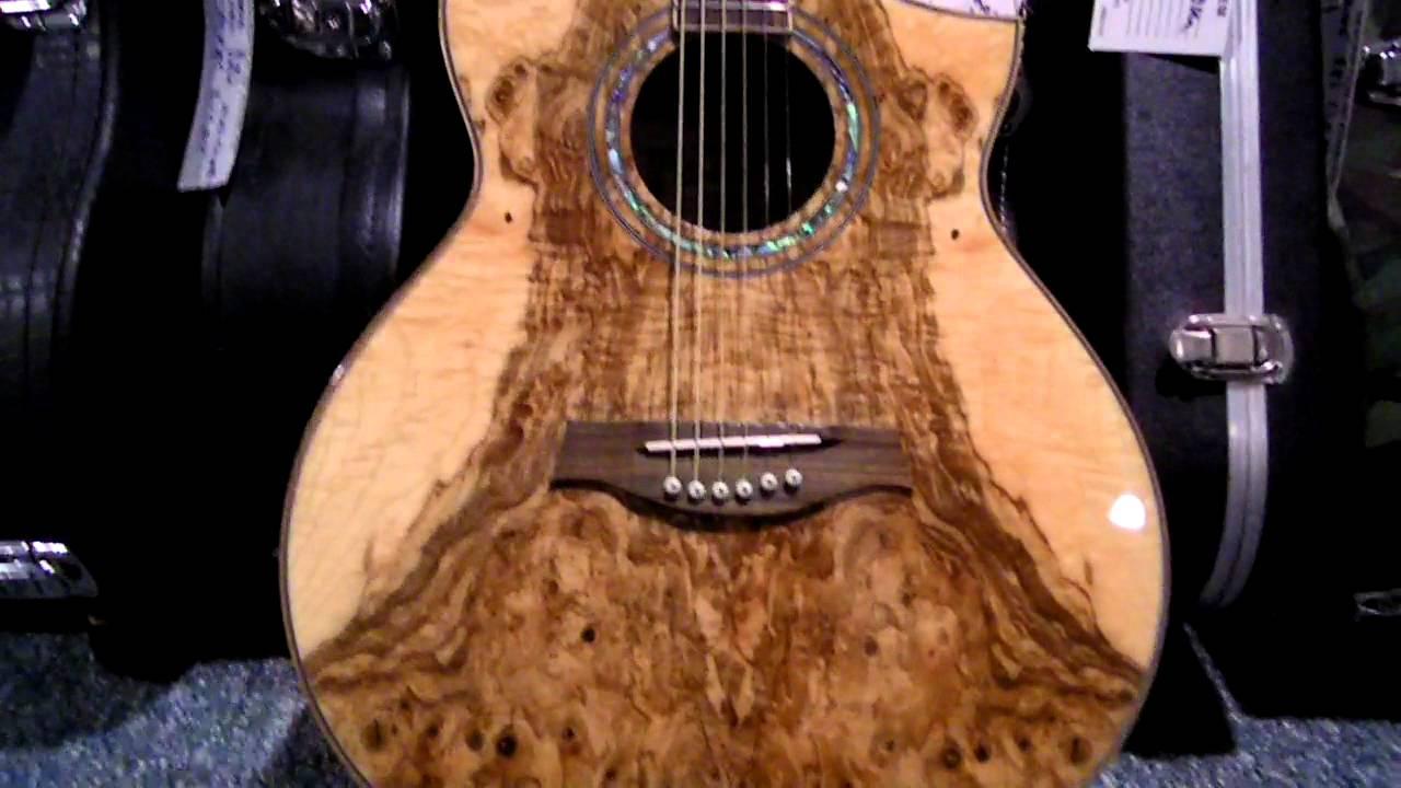 Exotic Wood Ibanez Acoustic Electric Youtube