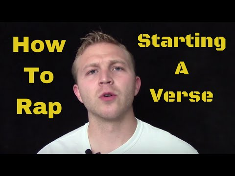 How To Rap: Starting A Verse with Writer's Block
