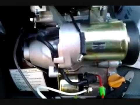 65hp predator electric start test - YouTube