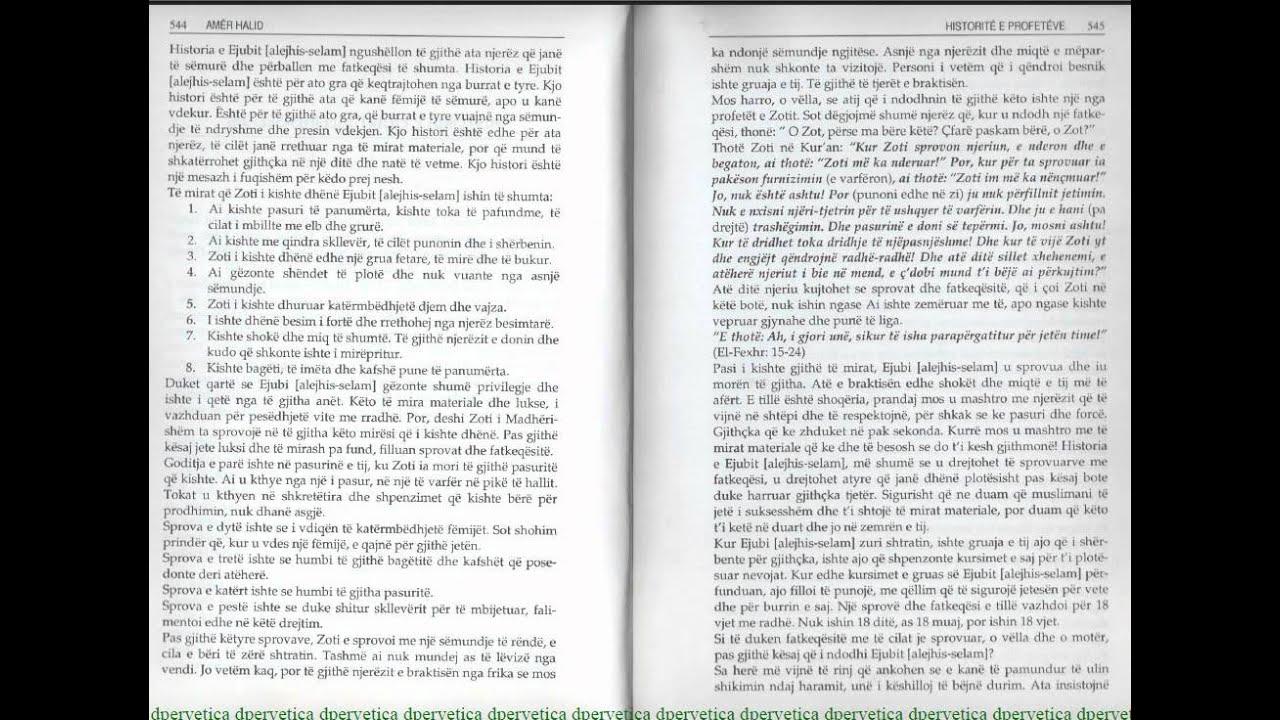 HISTORIT E PROFETVE 018 Historia EJUBIT Alejhis Selamavi