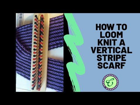 Loom Knit Flat Panel Eyelet Stitch Scarf Doovi
