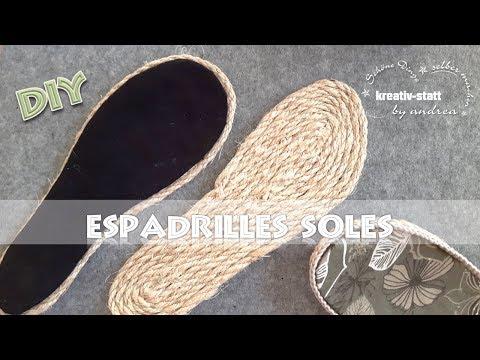DIY Espadrilles - Outdoor Sohlen mit Seil aus Jute oder Sisal [Wie man] DE
