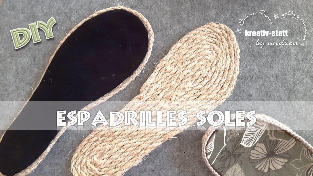 Diy espadrilles outdoor sohlen mit seil aus jute oder for Ripped jeans selber machen