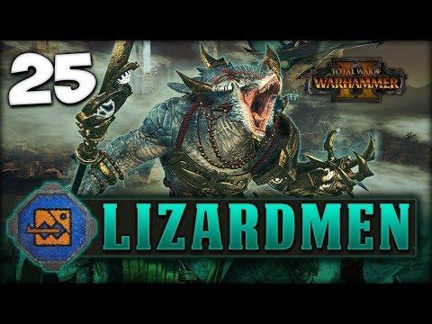 CLEARING THE TEMPLE! Total War: Warhammer 2 - Lizardmen Campaign - Kroq-Gar #25