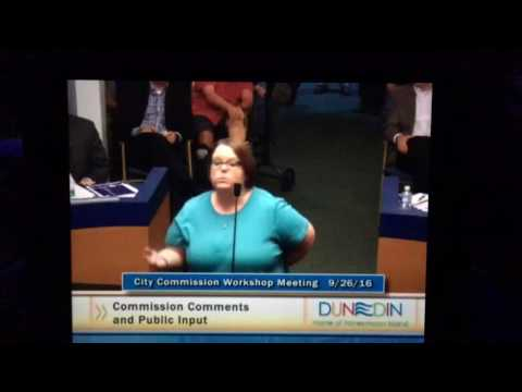 Baseball Betsy Speaks In Front of Dunedin City Council