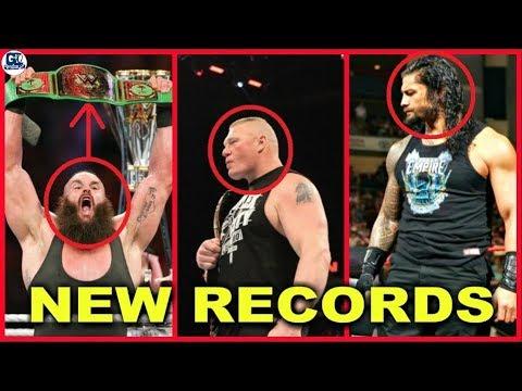 Braun Break Roman Record, Roman, Brock, Daniel Made Record at Greatest Royal Rumble 2018