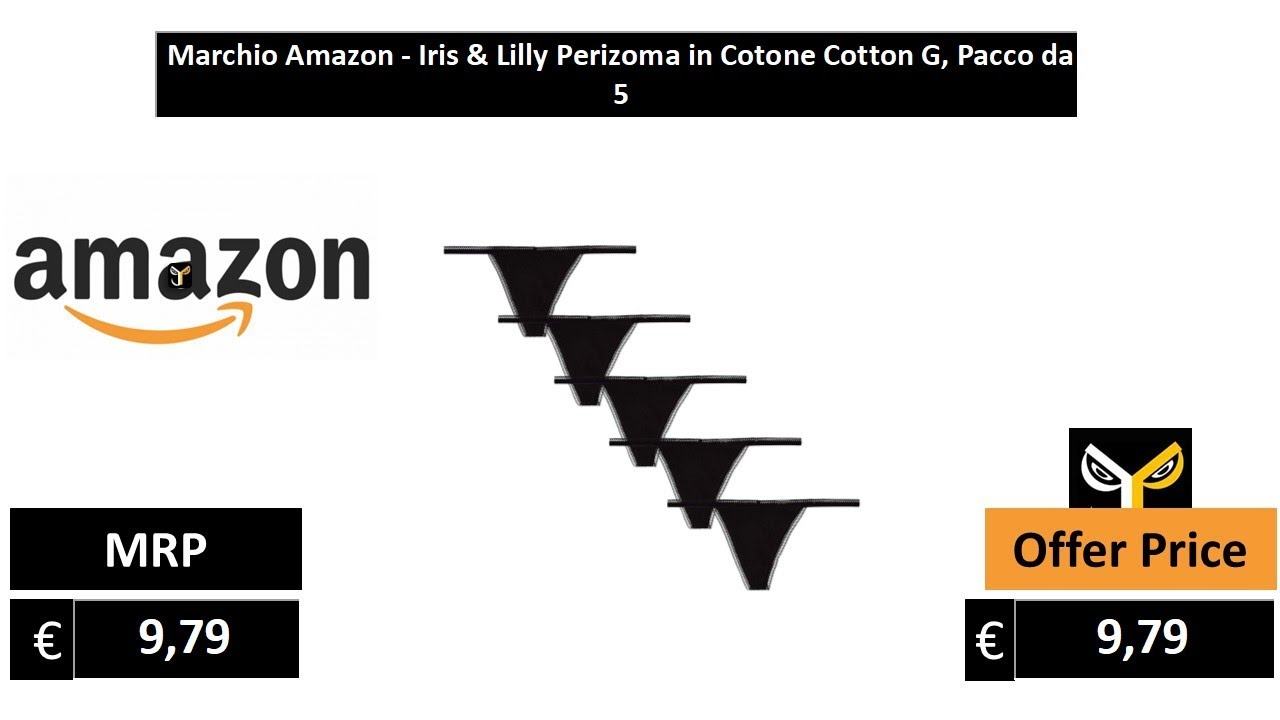 Iris /& Lilly Perizoma in Cotone Cotton G Pacco da 5 Marchio