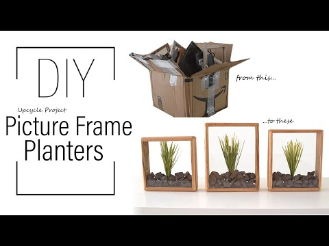 DIY: Upcycled Picture Frame Planters