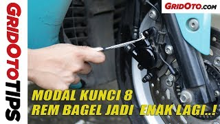 Cara Hilangkan Angin Palsu Di Rem Motor | How To | GridOto Tips
