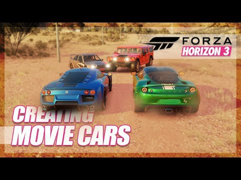 Forza Horizon 3 - Creating Our Own Movie Cars! (Random Fun)