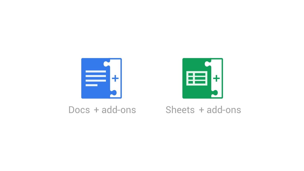 add ons for google docs sheets youtube