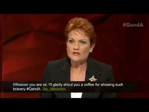 Pauline Hanson asked what is basis of your islamophobic feelings; hate, fear or ignorance