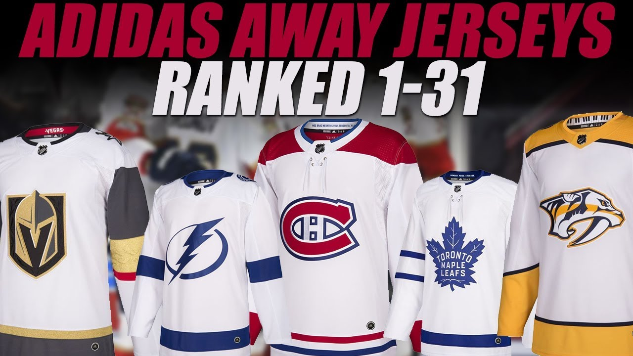 NHL Adidas Jerseys Ranked 1-31 (White) - YouTube 37eecef84