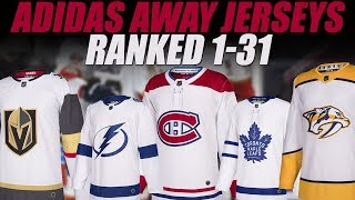 NHL Adidas Jerseys Ranked 1-31 (White)