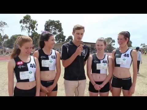 Record - Girls U/15 4x100m Relay Team Record