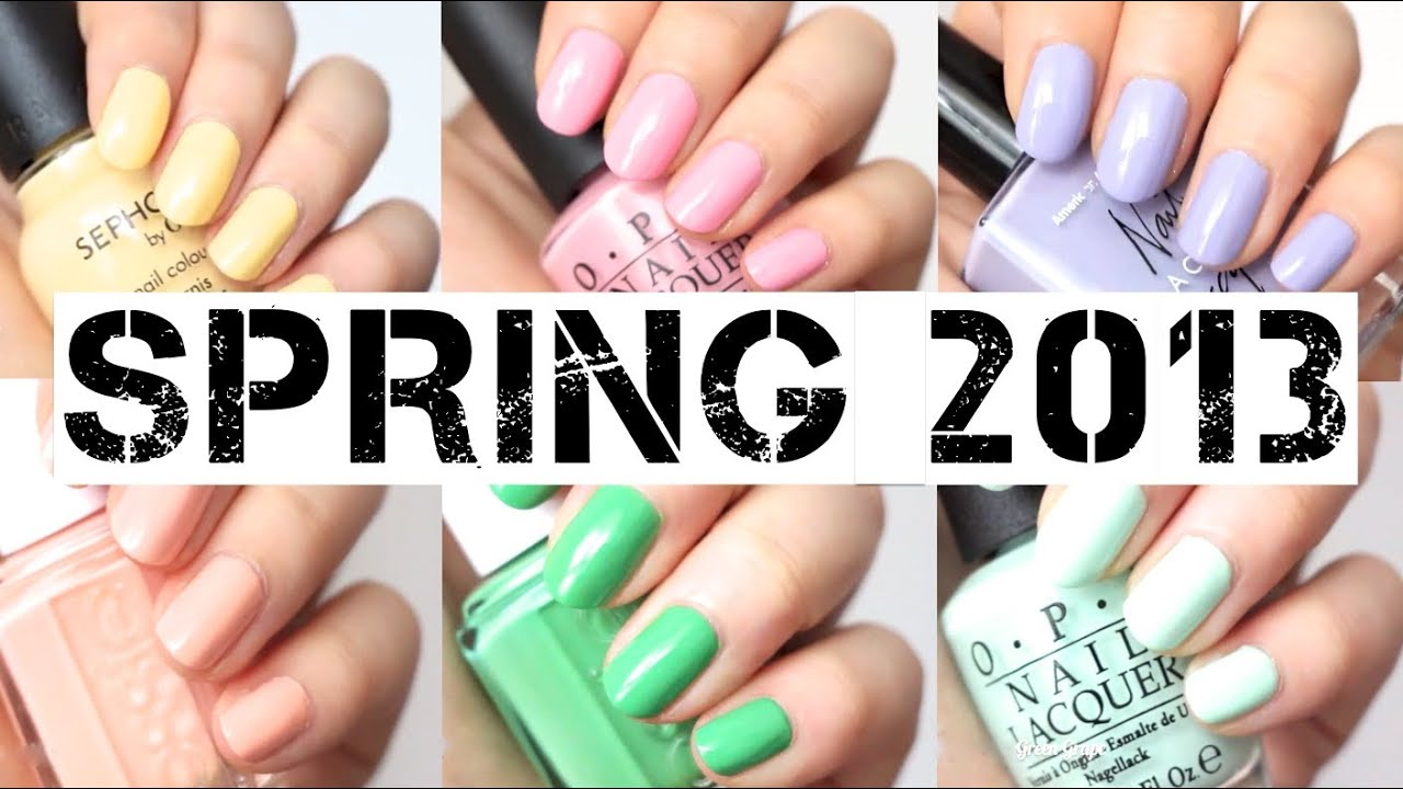 Favorite Spring Nail Polish 2013 | MakeupMarlin - YouTube
