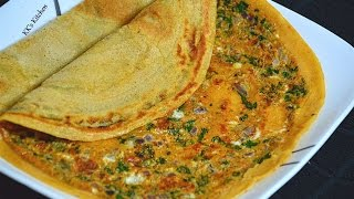 Wheat Flour Egg Dosa | Healthy Breakfast Recipe | Quick & Easy Breakfast Recipe