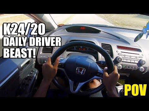 THE LAST BEST CIVIC SI - 260HP K24/20 8TH GEN CIVIC SI REVIEW (POV)