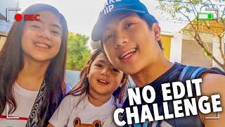 NO EDITING VLOG CHALLENGE!! | Ranz and Niana