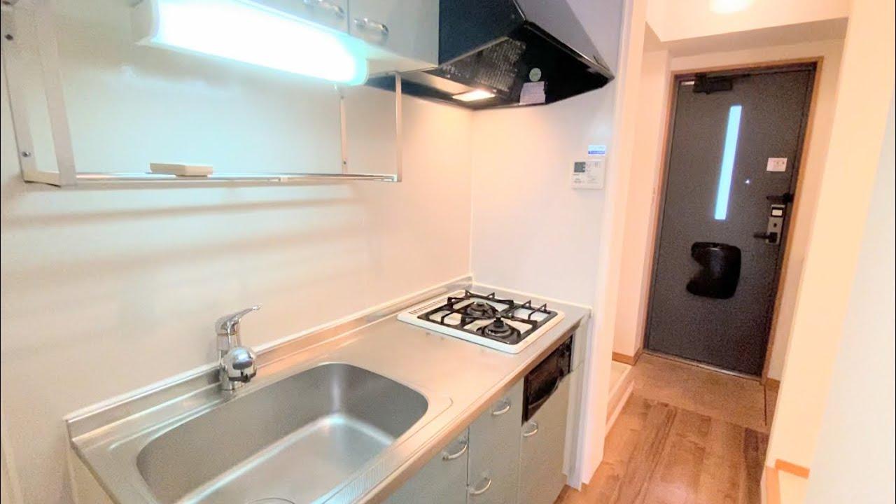 システムキッチンと少し広い洋室がある1Kの角部屋【学生や転勤者向け一人暮らしの賃貸】