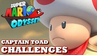Super Mario Odyssey - Captain Toad Floor Is Lava Challenges