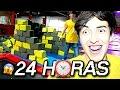 24 HORAS EN UN PARQUE DE TRAMPOLINES !! | XAM |