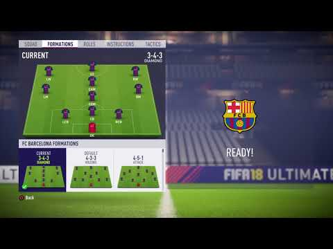 FIFA 18 FC Barcelona review - Best (Risky) formation, Best tactics and instructions
