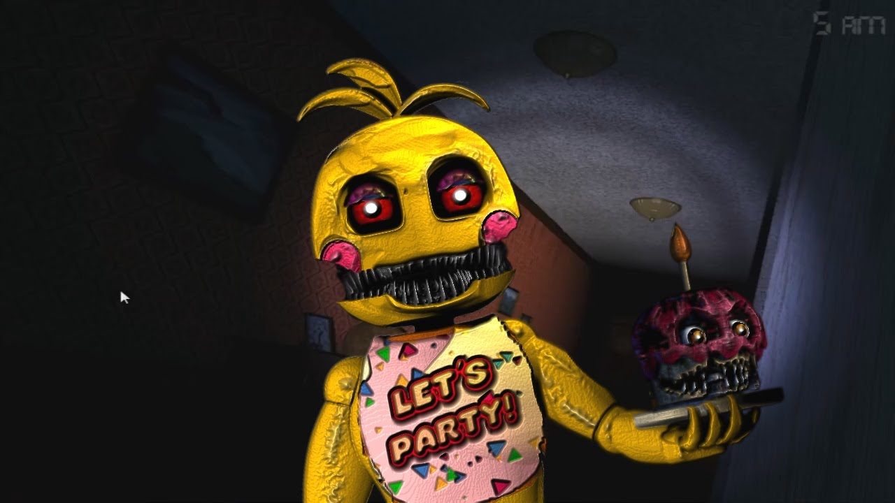 NIGHTMARE TOY CHICA IN FNAF 4