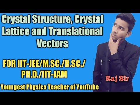 Crystal structure,Crystal lattice and Translational Vectors in hindi||Raj Physics Tutorials