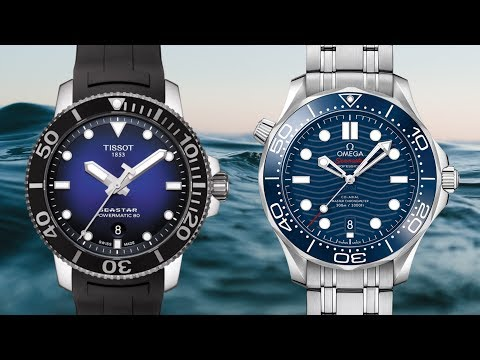 $500 Vs. $5000 Diver: The Tissot Seastar And NEW Omega Seamaster Professional 300M
