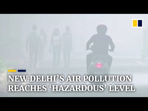 'Hazardous' air pollution in India's capital New Delhi shuts down schools