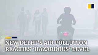 'Hazardous' air pollution in India's capital New Delhi shuts down schools