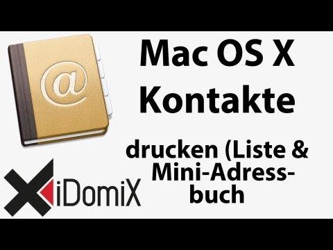 Mac OS X Aufkleber Und Kontaktlisten Drucken
