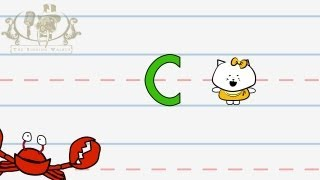 Write the letter C | Alphabet Writing lesson for children | The Singing Walrus